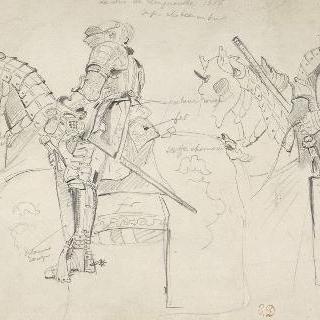 갑옷과 마갑을 위한 습작 ; 1825