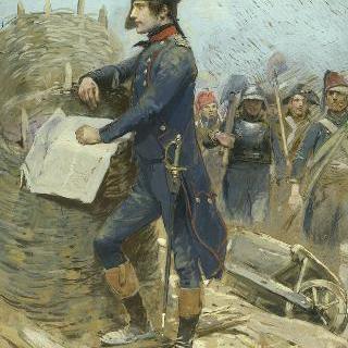 툴롱을 공략하고 있는 보나파르트, 1793