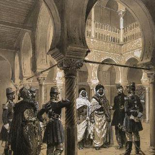 아프리카 군대 통역관들, 아프리카 엽기병 장교들, 토착민 군인들, 1842