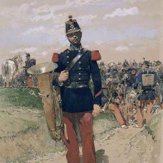 행렬중인 보병 군악대, 1885