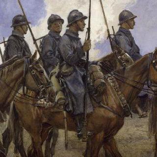 용기병들, 샹파뉴, 1917년 4월
