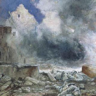 라페르테 밀롱의 레사르 농가, 1918년 7월 18일