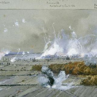 1915년 9월 25일 전투, 빌 쉬르 투르브 숲 폭격