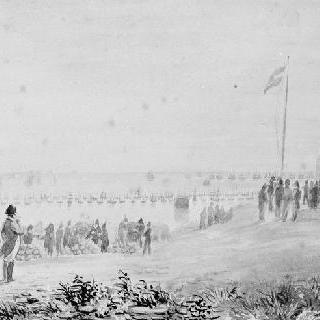1804년 불로뉴 야영지에서 함대의 움직임을 주목하고 있는 나폴레옹