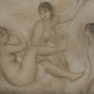 물가의 목욕하는 세 여인들
