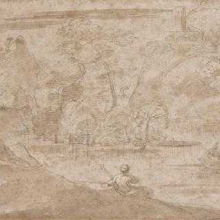 어부가 있는 강가