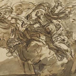 세상의 폐허 속에서 시간의 신에게 구원받는 호메로스