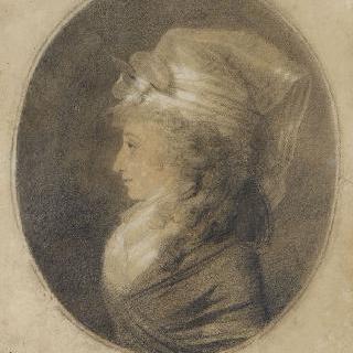 커다란 챙없는 모자를 쓴 젊은 여인의 초상