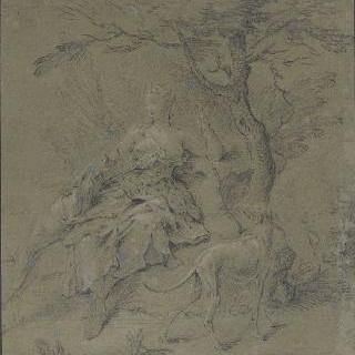 다이아나풍의 여인 초상