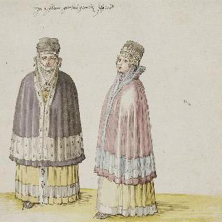 아이슬란드의 두 평민 여자 의상