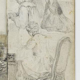 앨범 : 무릎꿇은 여인 : 악보 앞의 나이든 남자와 앉아있는 젊은 여인