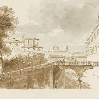 로마의 바르베르니 왕궁 정원의 정면