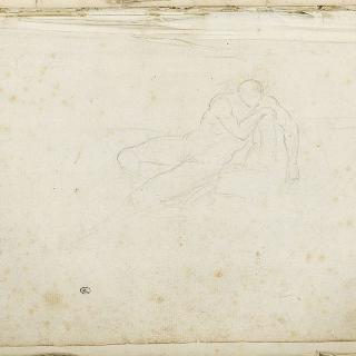 앨범 : 1775년경의 누워있는 나체의 남자 습작