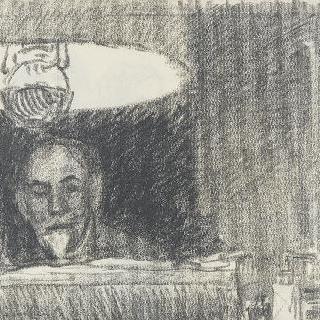 램프 아래에서 그림그리는 스탱랑
