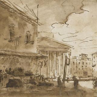 로마 팡테옹 광장의 시장