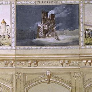 불타고 있는 랭스 성당