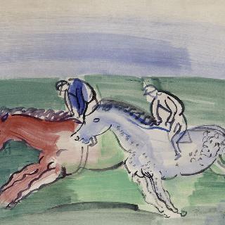 경주 하는 두 마리 말