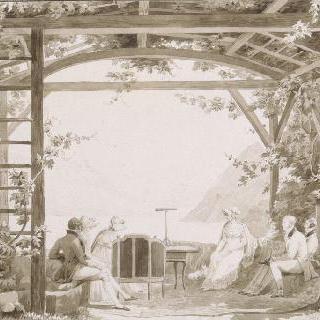 오트콤브의 구 수도원 정원에서 바라본 전경