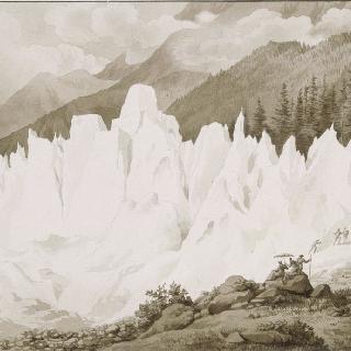 샹베리 골짜기내의 보송 빙하