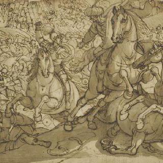 터키군대와의 전투 장면