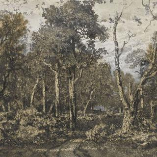 퐁텐블로숲의 부러진 떡갈나무