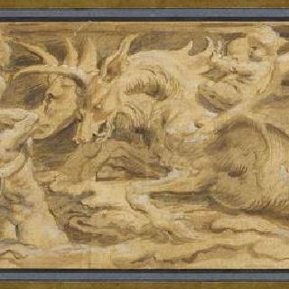 트리톤과 네레이데스들에게 둘러싸인 전차 위의 포세이돈