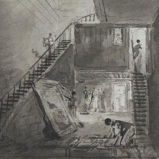 루브르 박물관의 위베르 로베르의 아틀리에 입구