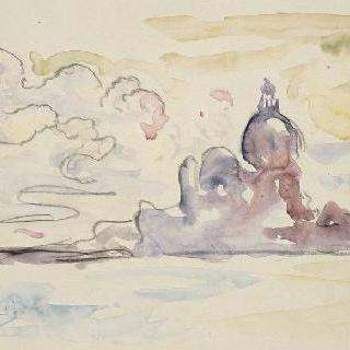 살뤼트의 성당과 석호