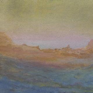 해안 절벽이 있는 풍경