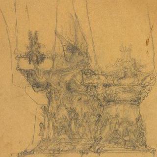 팡세 사원, 베토벤에게 헌정 : 내부 기둥 일부 묘사 : 춤