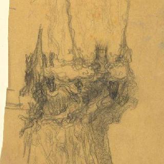 팡세 사원, 베토벤에게 헌정 : 내부 기둥 일부 묘사