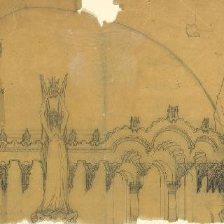 팡세 사원, 베토벤에게 헌정 : 칠현금을 들고 있는 날개 달린 여인들이 있는 꼭대기 장식