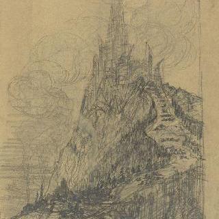 팡세 사원, 베토벤에게 헌정 : 언덕 아래에서 본 정경, 스케치