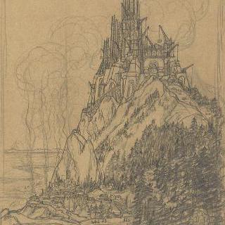 팡세 사원, 베토벤에게 헌정 : 건축중인 광경