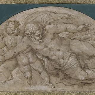 구름 속의 네 천사들에게 둘러싸인 축복하는 그리스도