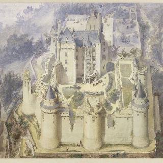 피에르퐁 성, 복원된 부분의 성 사투영