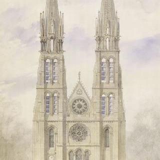 생 드니 성당 : 수도원 부속교회, 서쪽 면의 재건축 계획안