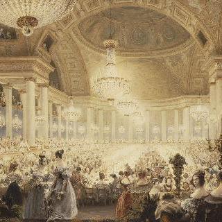 1835년 튈르리궁의 공연실의 귀부인들의 야식