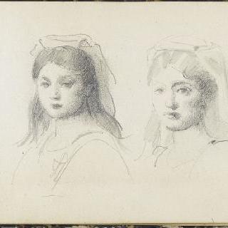 이탈리아 소녀들의 두상