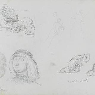 피렌체에서 그린 크로키 (피렌체의 우피치 미술관)