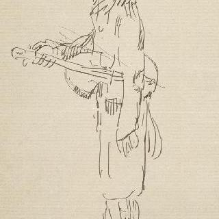 풍자화, 바이올린 연주자의 왼쪽 측면