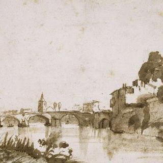 로마 테베레강에서 바라본 전경