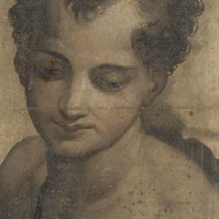 성 세례 요한 젊은 시절, 상반신, 오른쪽을 향한 4분의 3 각도 모습