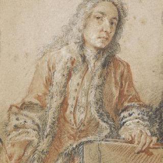 부세르 조각가 풍의 장 앙투안 와토의 초상