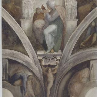 미켈란젤로풍의 복제화 (페르시아의 무녀, 식스틴 예배당, 바티칸)