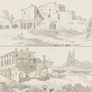 아쿠아 아케토자 부근의 건물과 빌라 드 네로의 전경