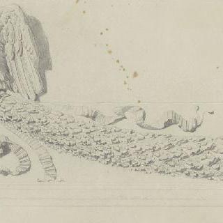 로마 트라잔 기둥 : 좌대를 장식하는 독수리와 화관