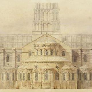 복원된 툴루즈의 생 세르냉 성당의 후진