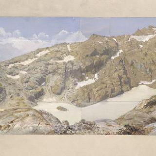 백색 호수의 전경