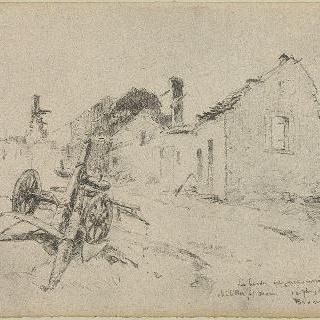 1914년 9월 샤티옹쉬르모랭, 쫓겨난 유목민과 불탄 가옥